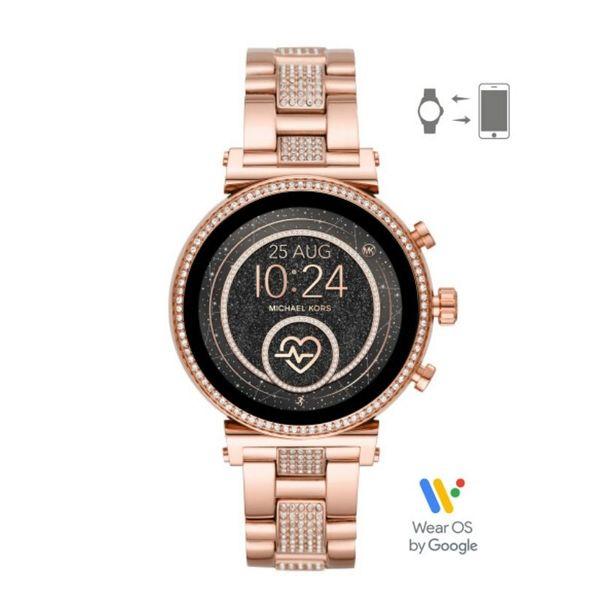 Smartwatch michael kors rozowe zloto rose gold bransoleta z krysztalkami sofie mkt5066