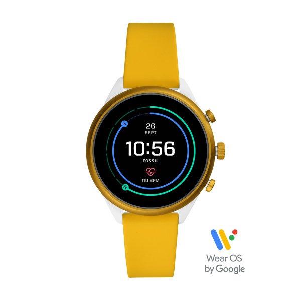 Smartwatch fossil sport zolty ftw6053