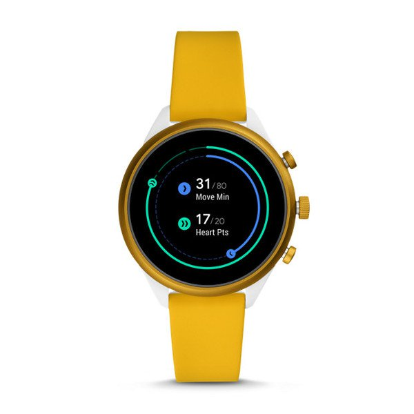 Smartwatch fossil sport zolty ftw6053 gps