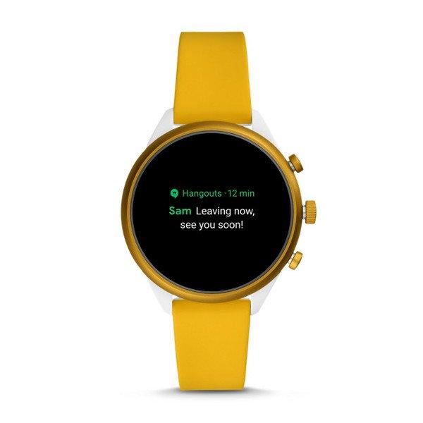 Smartwatch fossil sport zolty ftw6053 powiadomienia
