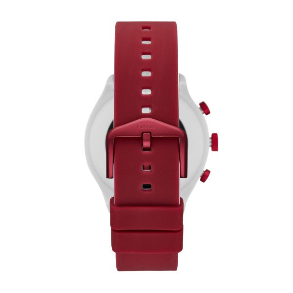 Smartwatch fossil sport czerwony bordowy damski meski ftw4033 silikonowy pasek