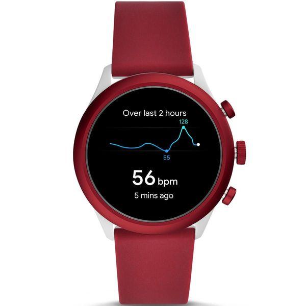 Smartwatch fossil sport czerwony bordowy damski meski ftw4033 gps