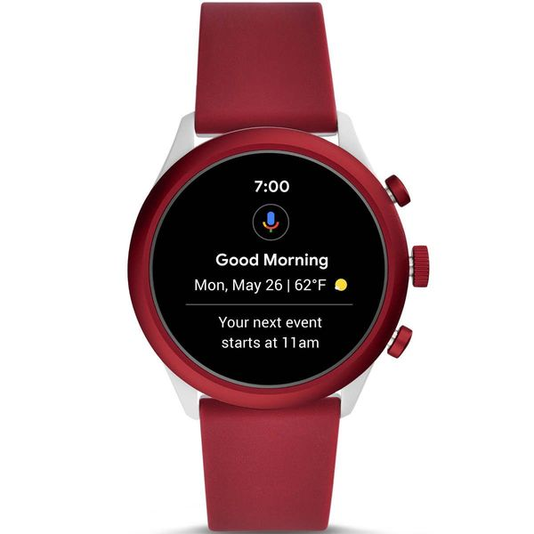 Smartwatch fossil sport czerwony bordowy damski meski ftw4033 powiadomienia