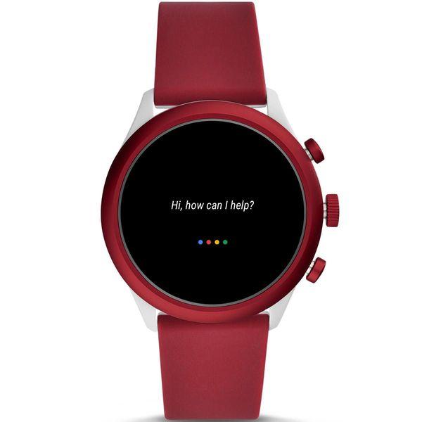 Smartwatch fossil sport czerwony bordowy damski meski ftw4033 google assistant