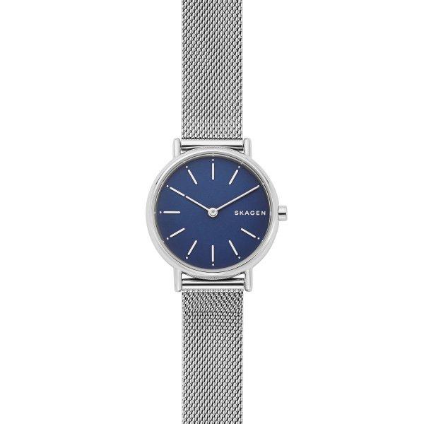 Zegarek damski skagen srebrny z niebieska tarcza skw2759