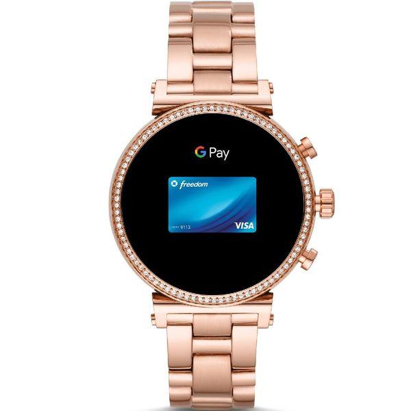 Smartwatch michael kors rose gold bransoleta mkt5063 sofie platnosci zblizeniowe