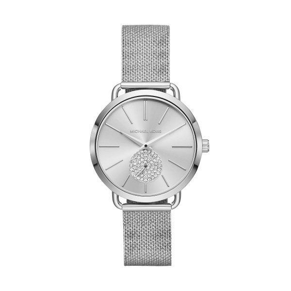 Zegarek michael kors srebrny na bransolecie portia mk3843