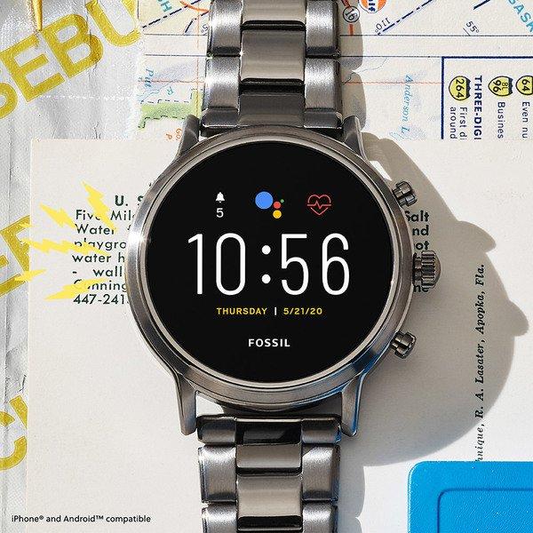 Meski smartwatch fossil na bransolecie 5 generacja ftw4024