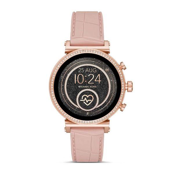 Smartwatch michael kors na r%c3%b3zowym pasku rose gold r%c3%b3%c5%bcowe z%c5%82oto z brylancikami sofie mkt5068 autoryzowany sklep