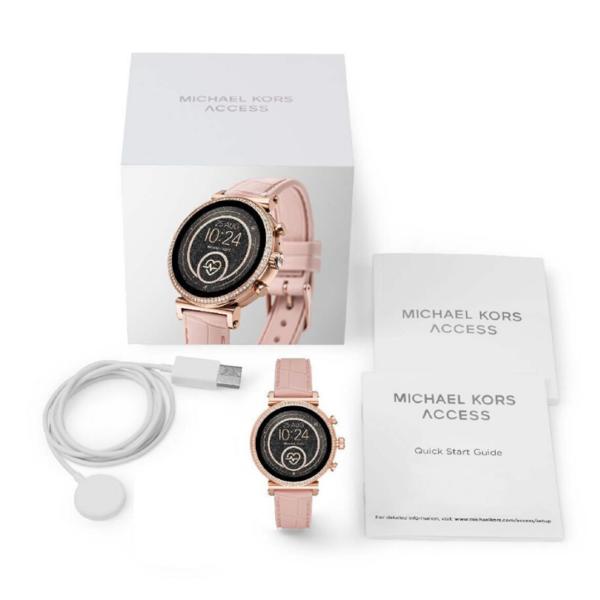 Smartwatch michael kors autoryzowany sklep opakowanie mkt5068 na r%c3%b3zowym pasku
