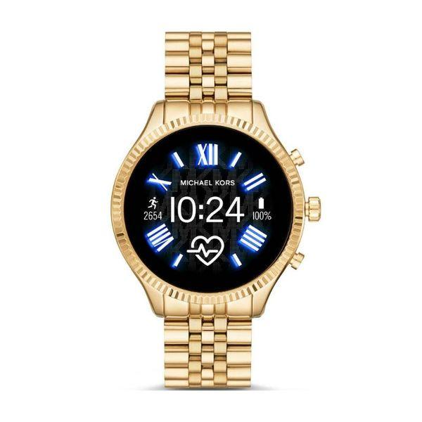 Najnowszy smartwatch michael kors zloty na bransolecie lexington mkt5078