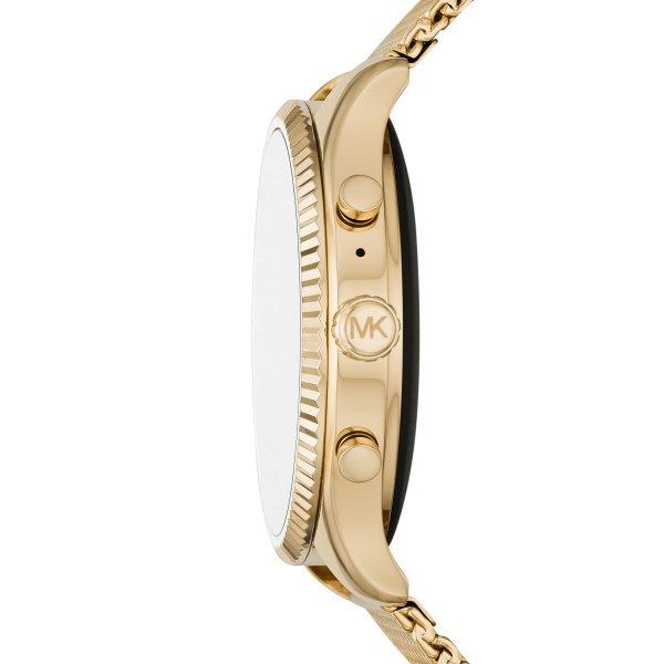 Zloty smartwatch michael kors mk z dodatkowym czarnym paskiem mkt5113 koperta