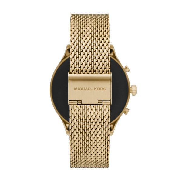 Zloty smartwatch michael kors na bransolecie mk z dodatkowym czarnym paskiem mkt5113