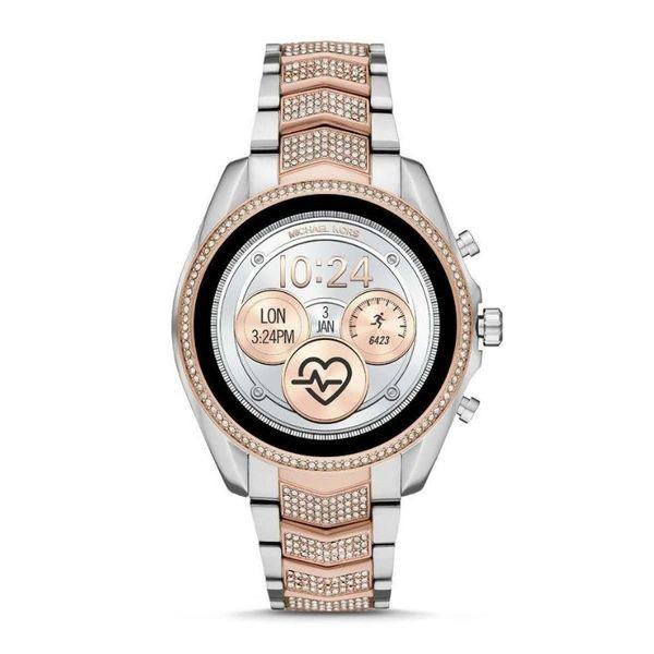 Smartwatch michael kors mkt5114 srebrny rose gold z diamencikami krysztalkami na bransolecie najnowszy 5 generacja autoryzowany sklep