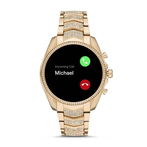 Zloty smartwatch michael kors na bransolecie z krysztalkami mkt5115 gwarancja oryginalnosci autoryzowany sklep bradshaw rozmowa