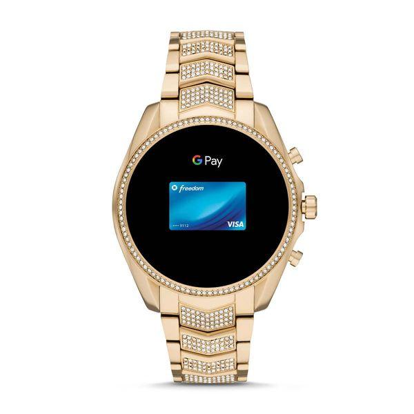 Zloty smartwatch michael kors na bransolecie z krysztalkami mkt5115 gwarancja oryginalnosci autoryzowany sklep bradshaw platnosc zegarkiem
