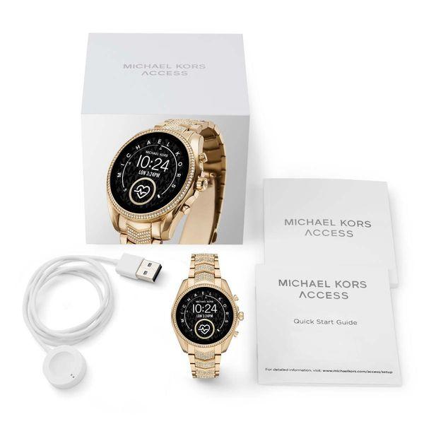 Zloty smartwatch michael kors na bransolecie z krysztalkami mkt5115 gwarancja oryginalnosci autoryzowany sklep bradshaw opakowanie