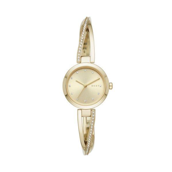 Z%c5%82oty zegarek dkny na bransolecie z brylancikami crosswalk gold ny2830