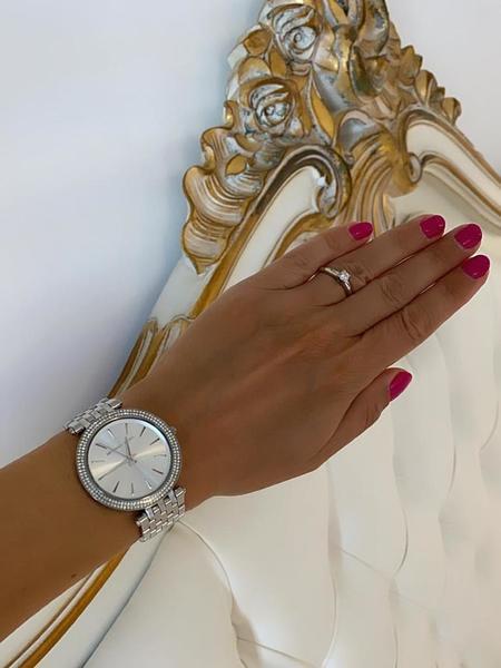 Srebrny zegarek damski michael kors mk3190 mk3190 na bransolecie z diamencikami autoryzowany sklep michael kors z kryszta%c5%82kami