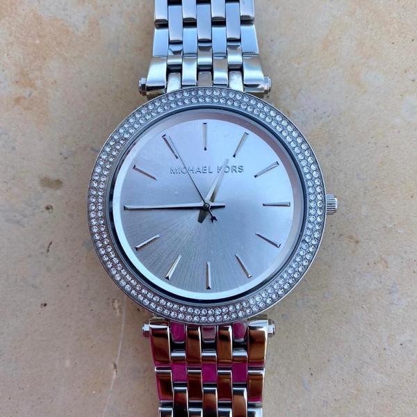 Srebrny zegarek damski michael kors mk3190 mk3190 na bransolecie z diamencikami autoryzowany sklep michael kors