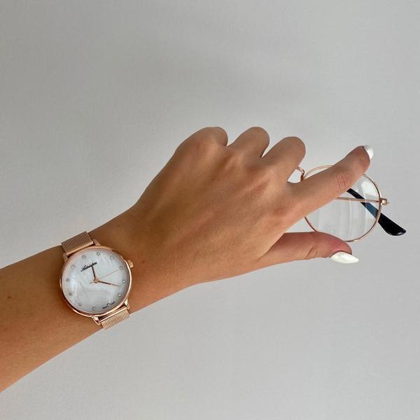 Damski rose gold zegarek adriatica r%c3%b3%c5%bcowe z%c5%82oto a3573.914fq kolekcja adriatica milano rosegold na metalowej bransolecie per%c5%82owa tarcza z kryszta%c5%82kami autoryzowany sklep adriatica
