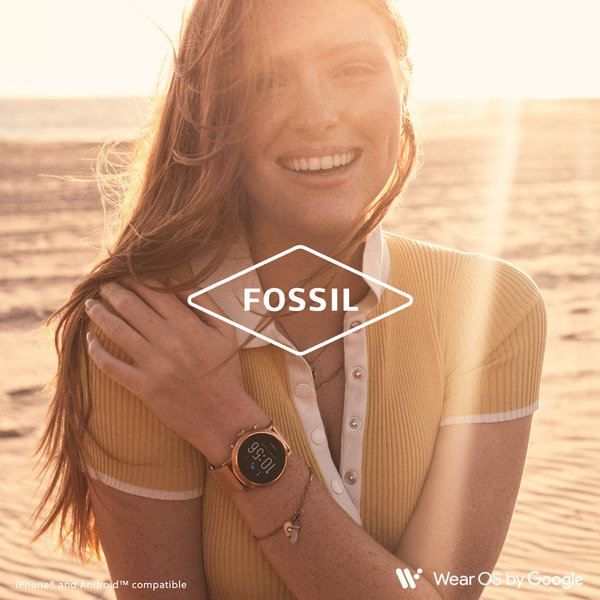 Smartwatch damski fossil r%c3%b3%c5%bcowe zloto rose gold