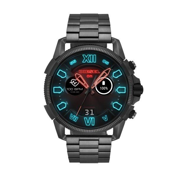 Smartwatch meski diesel dzt2011 na bransolecie czarny grafitowy  funkcje