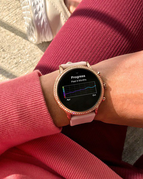 Ftw6035 smartwatch damski rozowy pasek