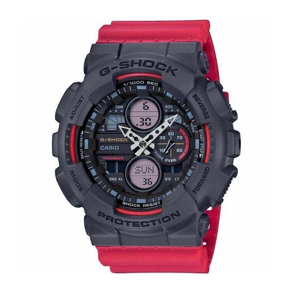 Zegarek casio g shock z czerwonym paskiem czarna koperta ga 140 4aer autoryzowany sklep
