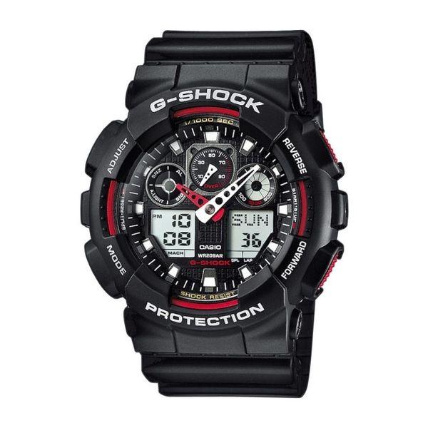 Zegarek meski casio g shock czarny z czerwonym ga 100 1a4er autoryzowany sklep gwarancja