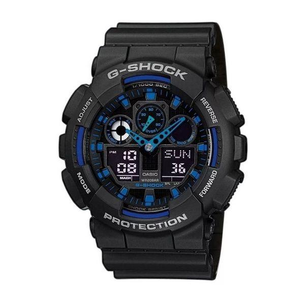 G shock supernova ga 100 1a2er ga1001a2er zegarek meski czarny z niebieskim gwarancja orygina%c5%82 autoryzowany sklep