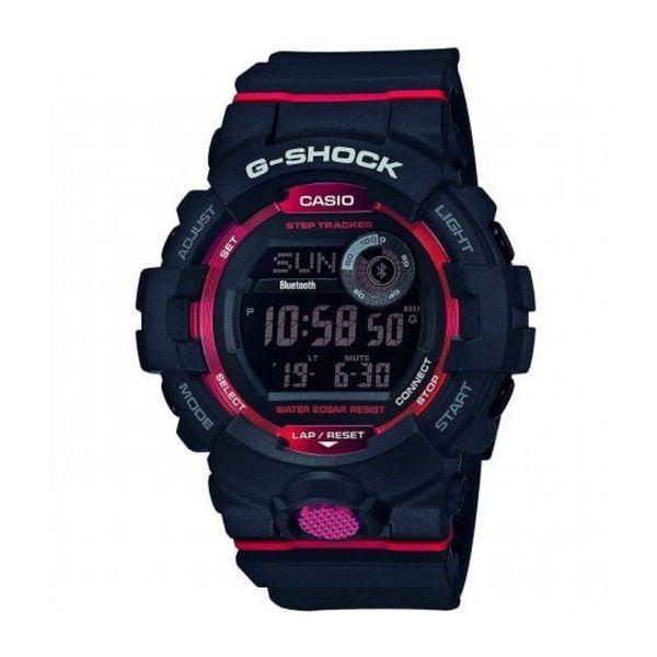 Casio gshock m%c4%99ski zegarek czarny czerwony gbd 800 1er oryginalny orygina%c5%82 krokomierz wy%c5%9bwietlacz timer licznik kalorii gwarancja autoryzowany sprzedawca casio g shock gbd 800 1er gbd8001er