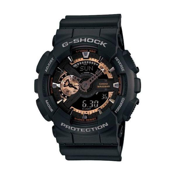 Czarny m%c4%99ski zegarek gshock casio ga 110rg 1aer pasek tarcza z%c5%82ota ze wskaz%c3%b3wkami alarm datownik kalendarz timer stoper gwarancja orygina%c5%82 oryginalny autoryzowany sklep casio g shock ga 110rg 1aer ga110rg1aer