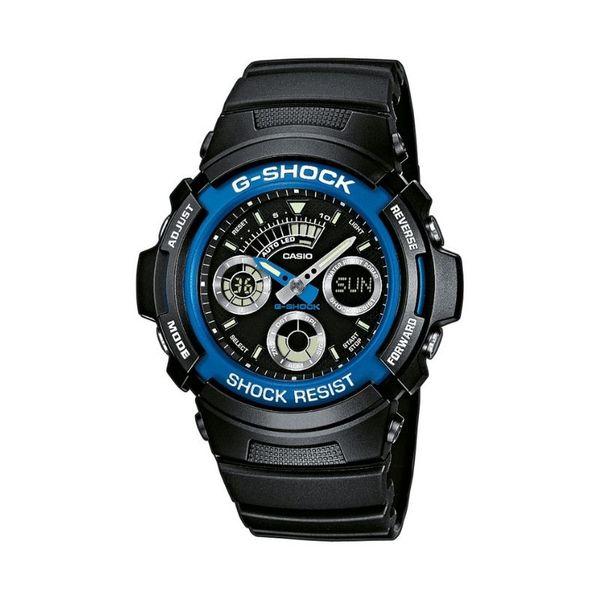 Czarny zegarek m%c4%99ski casio g shock aw 591 2aer czarny pasek niebieski granatowy okr%c4%85g%c5%82a tarcza ze wskaz%c3%b3wkami alarm timer stoper kalendarz gwarancja orygina%c5%82 autoryzowany sklep gshock casio