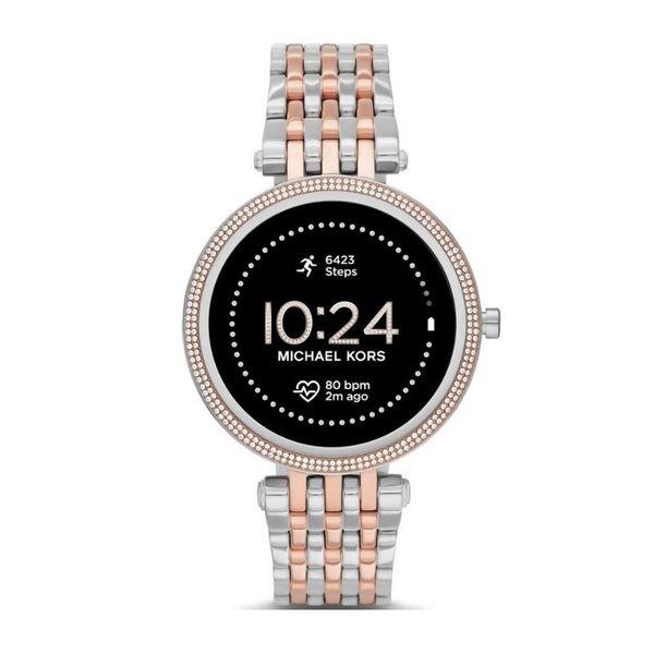 Smartwatch michael kors darci srebrny z rose gold z r%c3%b3zowym zlotem najnowszy mkt5129 bransoleta orygina%c5%82 autoryzowany sklep oficjalny