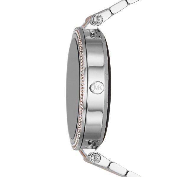 Smartwatch michael kors darci srebrny z rose gold z r%c3%b3zowym zlotem najnowszy mkt5129 bransoleta orygina%c5%82 autoryzowany sklep oficjalny generacja 5e z krysztalkami