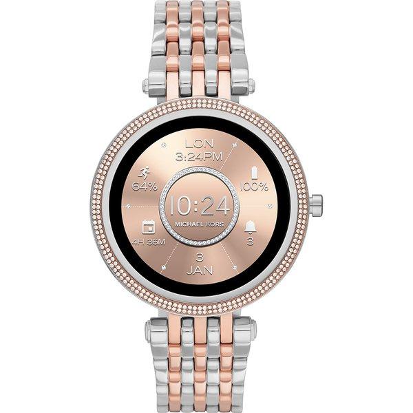 Smartwatch darci michael kors srebrny z rose gold z r%c3%b3zowym zlotem najnowszy mkt5129 bransoleta orygina%c5%82 autoryzowany sklep oficjalny generacja 5e zmiana tarczy