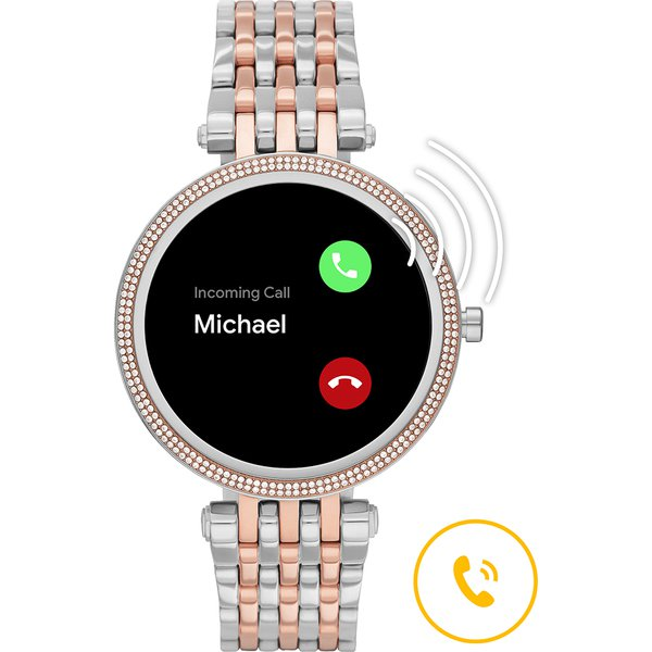 Smartwatch darci michael kors srebrny z rose gold z r%c3%b3zowym zlotem najnowszy mkt5129 bransoleta orygina%c5%82 autoryzowany sklep oficjalny generacja 5e rozmowy