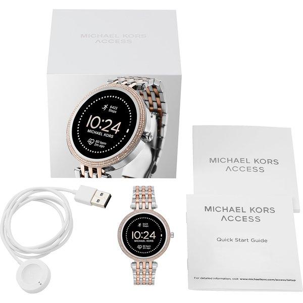 Smartwatch michael kors darci srebrny z rose gold z r%c3%b3zowym zlotem najnowszy mkt5129 bransoleta orygina%c5%82 autoryzowany sklep oficjalny generacja 5e opakowanie