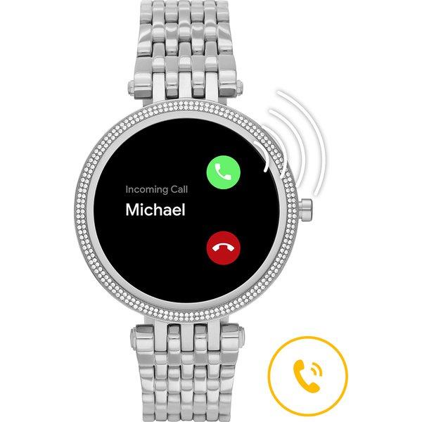 Smartwatch darci michael kors srebrny generacja 5e mkt5126 na bransolecie gwarancja orygina%c5%82 autoryzowany sklep rozmowa przez zegarek