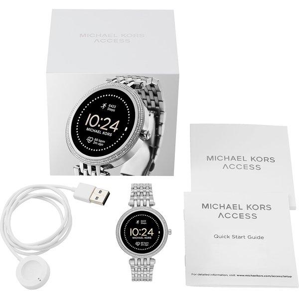 Smartwatch michael kors srebrny darci generacja 5e mkt5126 na bransolecie gwarancja orygina%c5%82 autoryzowany sklep  zestaw opakowanie