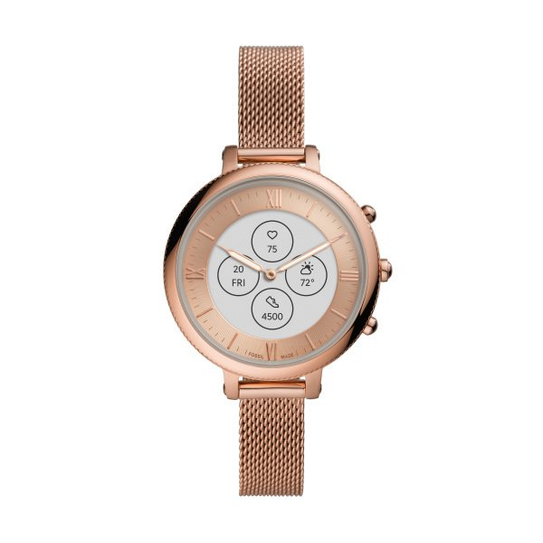 Smartwatch damski zegarek hybrydowy rose gold ftw7039 bransoleta