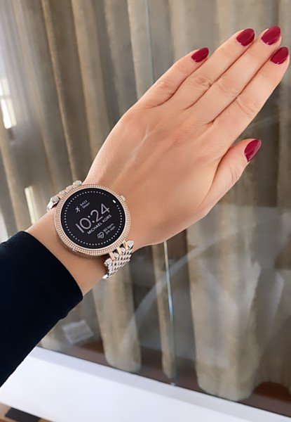 Damski smartwatch michael kors dwukolorowy darci 5 generacja najnowszy z kryszta%c5%82kami gwarancja autoryzowany sklep mkt5129