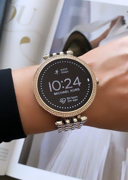 Mkt5129 smartwatch michael kors darci srebrny rose gold 5 generacja najnowszy gwarancja