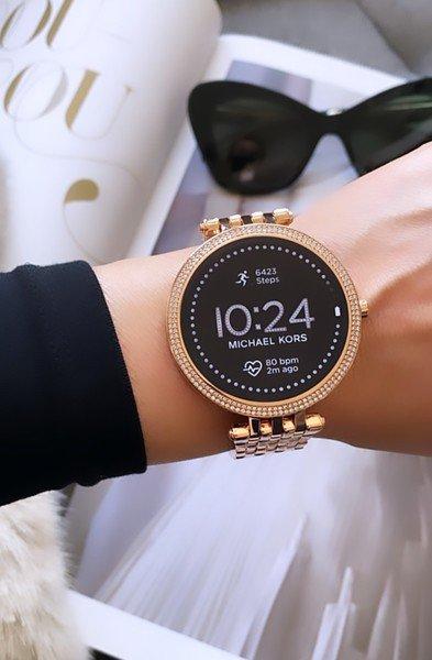 Smartwatch damski michael kors mkt5128 rose gold r%c3%b3%c5%bcowe z%c5%82oto 5 generacja najnowszy bransoleta