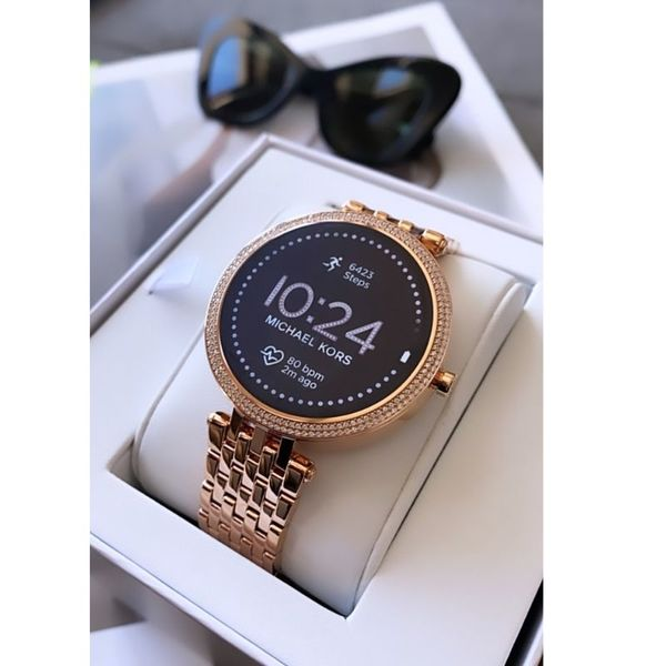 Smartwatch damski michael kors mkt5128 rose gold r%c3%b3%c5%bcowe z%c5%82oto 5 generacja najnowszy bransoleta orygina%c5%82 opakowanie