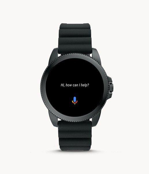 Ftw4047 cena smartwarch fossil 5 generacja czarny na silikonowym pasku gwarancja autoryzowany sklep asystent google