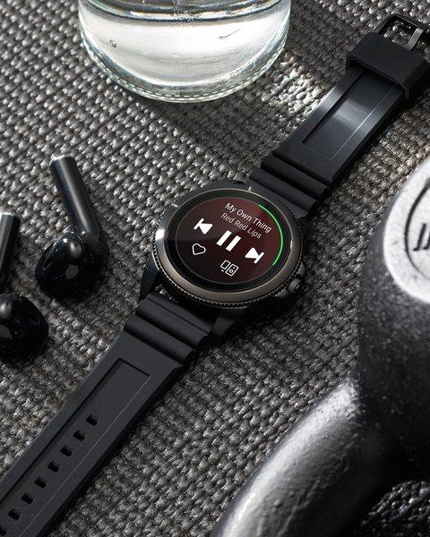 Ftw4047 cena autoryzowany sklep smartwatch fossil 5 generacja pasek silikonowy funkcje odtwarzanie muzyki