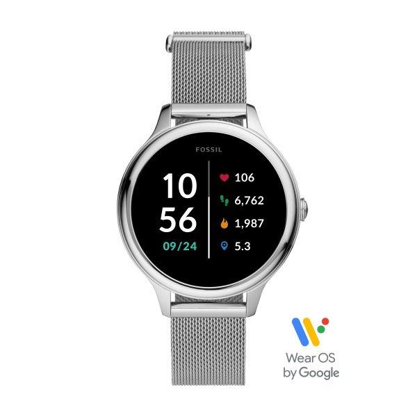 Smartwatch damski fossil srebrny na bransolecie ftw6061 cena