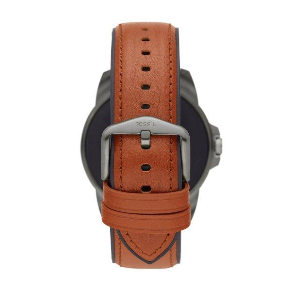 Smartwatch m%c4%99ski fossil 5 generacja najnowszy na pasku ftw4055 platnosci zblizeniowe nfc brazowy pasek